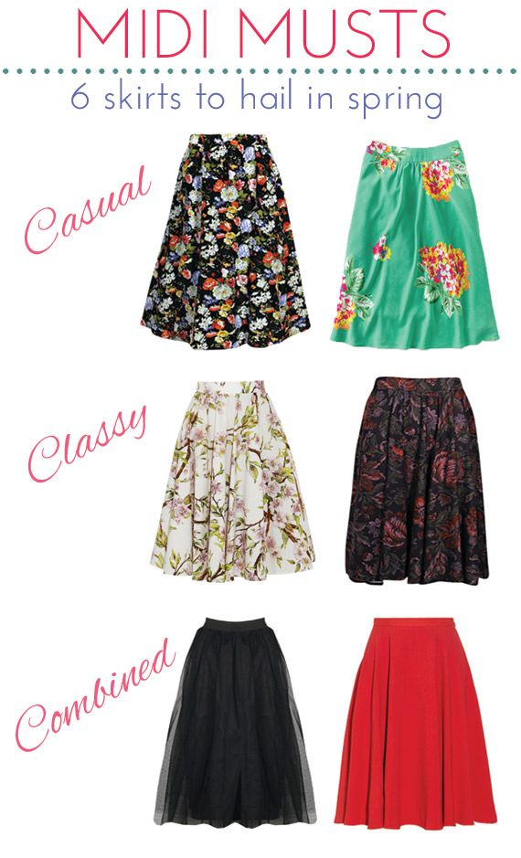 6ef78b835 Trend Alert: Midi Skirts to Hail in Spring | Stitch Fix inspiration |  Fashion, Skirts, Skirt outfits
