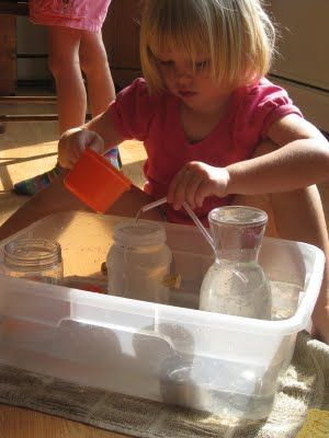 Recycled containers for water play