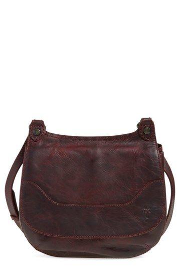 Image of Frye Melissa Leather Foldover Crossbody Bag