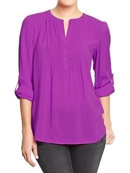 Women's Pintuck Tunics | Old Navy