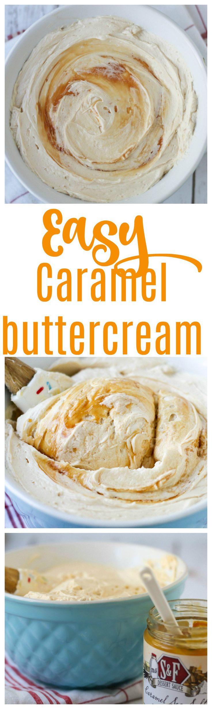 easy caramel icing | caramel buttercream | caramel icing | how to make caramel buttercream | salted caramel buttercream