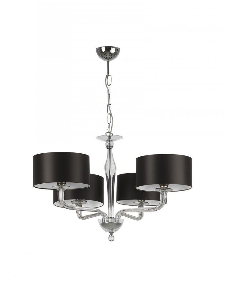 Czarina Clear 4 Arm Ceiling Light - Heathfield & Co