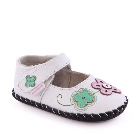 Pantofi bebelusi Lorraine White Multi - pediped