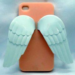 Telefonunuzu melekler korusun... iphone 4 ve 4s içindir Renk: Yavruağzı