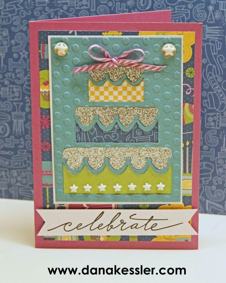 Confetti Wishes Girl Birthday Card Artfully Sent #ctmh #scraptabulousdesigns #cricutexplore
