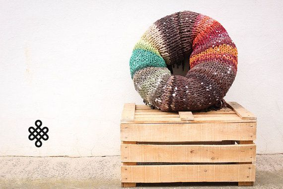 THE TUBER - Retextil pouffe - Handmade Knitted Pouf, Ottoman, Footstool, Fabric Pouf - Hand Woven Recycled High Quality Decoration  9:04  #home #living #decor #decoration #decorative #pillow #pillows #pouffe #pouf #cushion #ecodesign #slow #slowdesin #handmade #recycle #diy #recycled #fabric #textile #retextil #earth #ecofriendly #sustainable #red #brown #forest