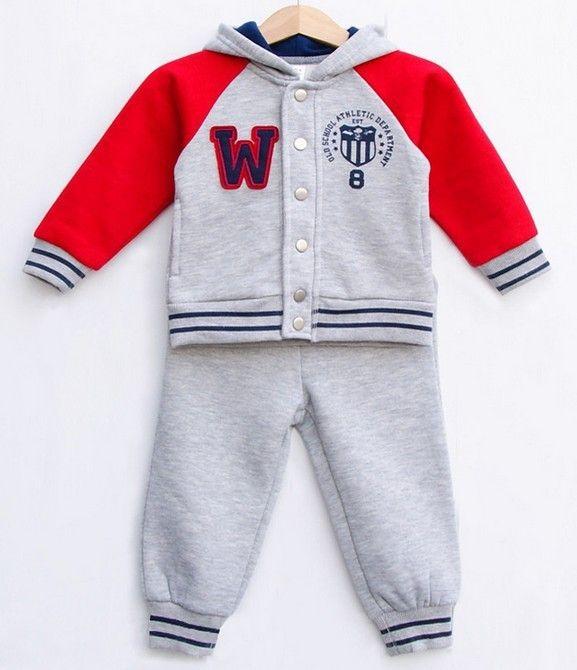 Бесплатная доставка 2015 новая детская одежда комплект осень наряды толстовка мода мальчики девочки фрак спорт младенец костюм дети купить на AliExpress