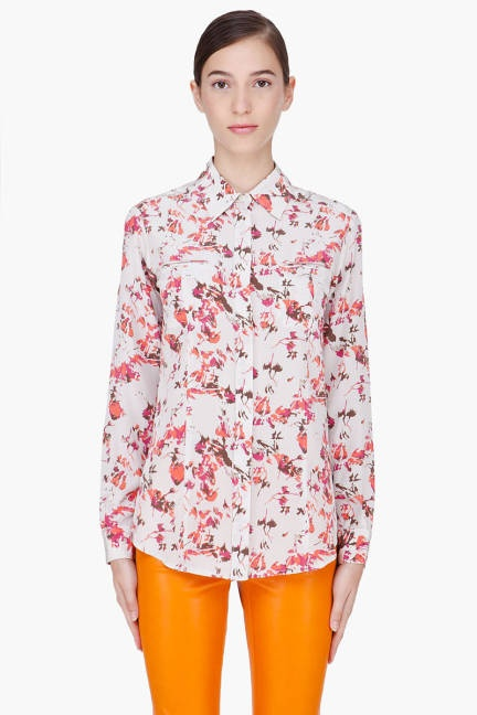Pretty prints from Thakoon AdditionSilk Seam, Shirts, Woman, Ivory Silk, Addition Ivory, Clothing Shoes, Thakoon Addition