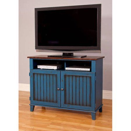 "Martin Furniture Eagon 42 inch TV Stand For Flat Screen TVs up to 40"", Blue"