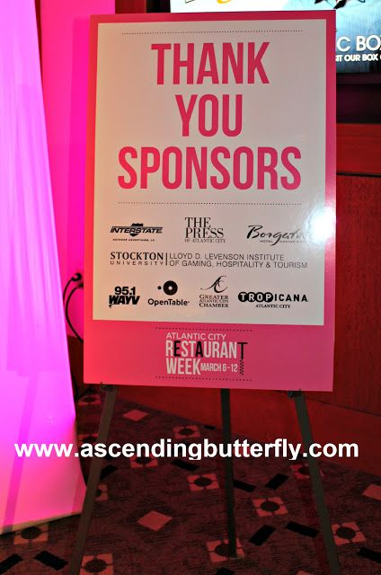 Thank You Sponsors Signage at Official Taste of #AtlanticCity #RestaurantWeek Exclusive Preview Event @BorgataAC #DOAC