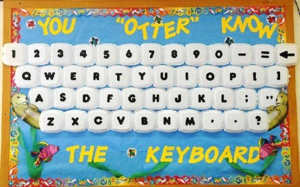 You 'Otter' Know The Keyboard! | Computer Back-To-School Bulletin Board