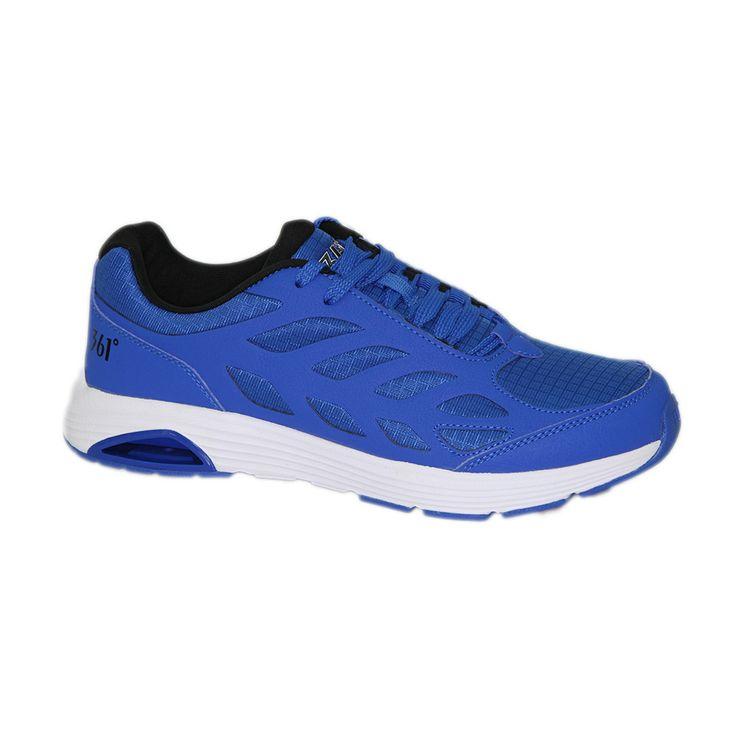 Ανδρικά παπούτσια τρεξίματος 361 χρώματος μπλε. Διαθέτουν αντιολισθητική σόλα για άνετο πάτημα. Ιδανικά για αθλητές, αλλά και για άτομα με πολλές ώρες ορθοστασίας στην καθημερινότητά τους. Πολύ οικονομική λύση.