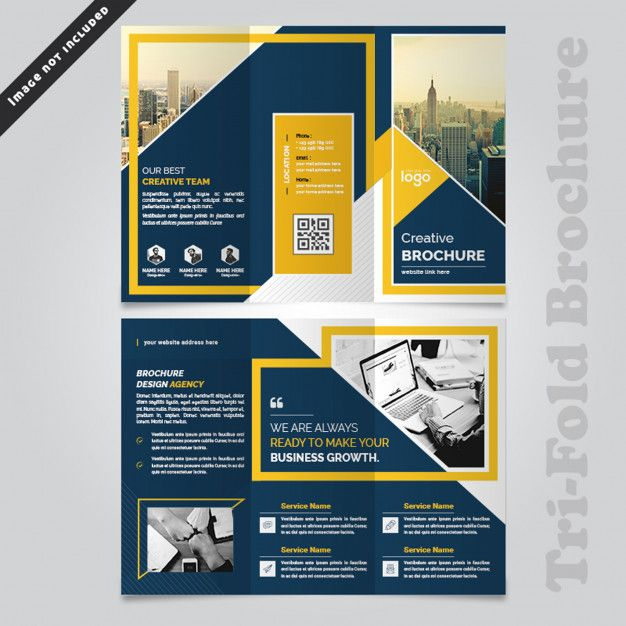 Abstract Business Trifold Brochure Design Trifold Brochure