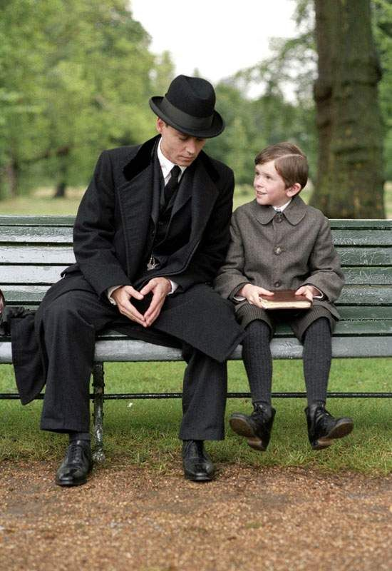 Johnny Depp and Freddie Highmore in Miramax Films Finding Neverland (2004)