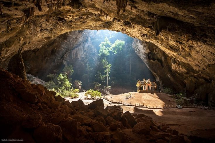 Khao Luang Cave - a Buddhist temple in a cave 90 feet below the ground