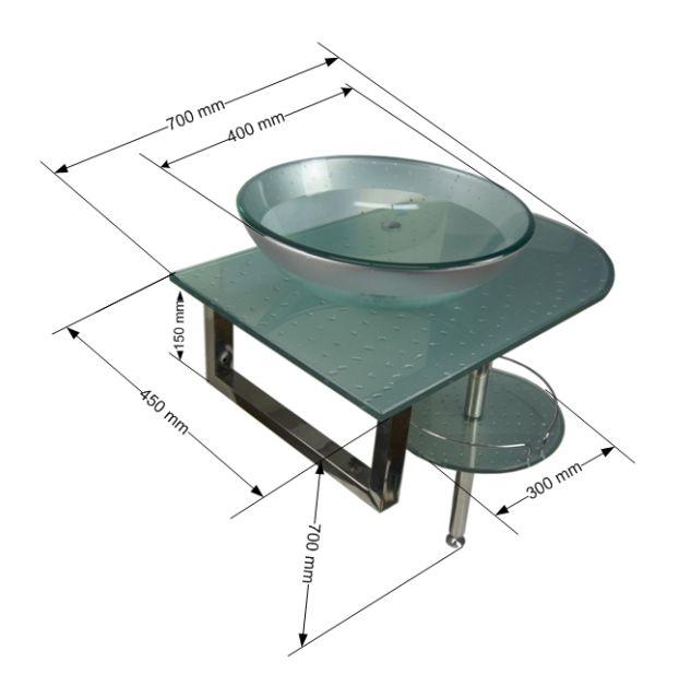 Стеклянная раковина Frap F165-33 70 см серебристая, цена 11130 руб., купить в Москве — Tiu.ru (ID#15266305)
