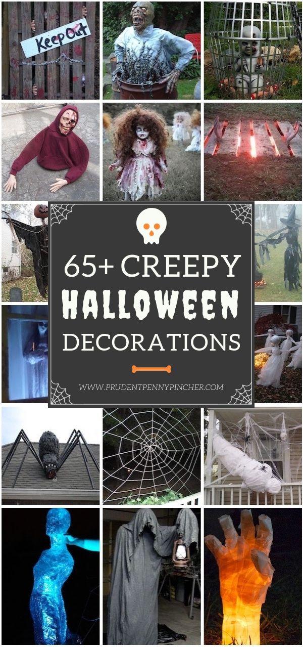 65 Creepy DIY Halloween Decorations Fright Night Pinterest