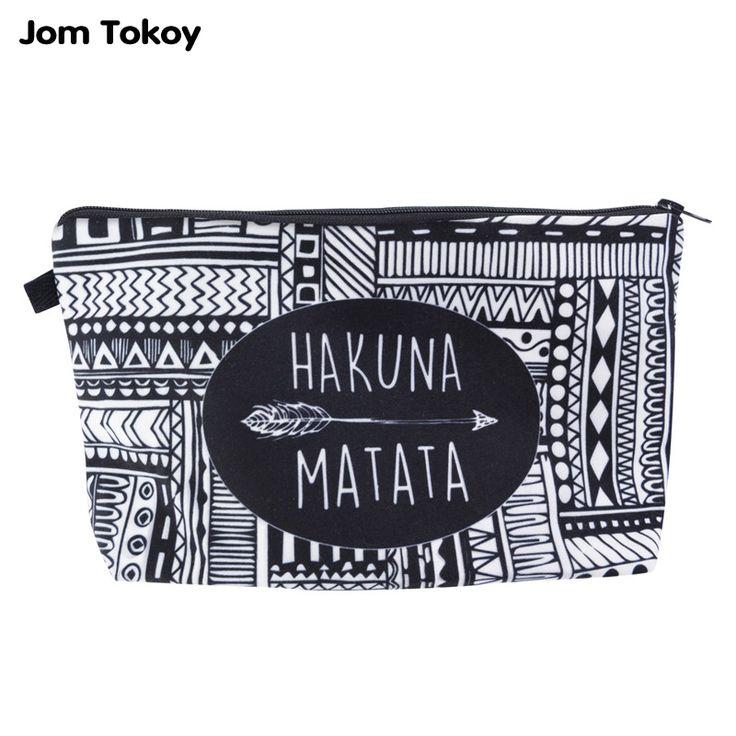 Jom Tokoy Fashion Brand Cosmetic Bags 2016 New Fashion 3D Printing Women Travel Makeup Case