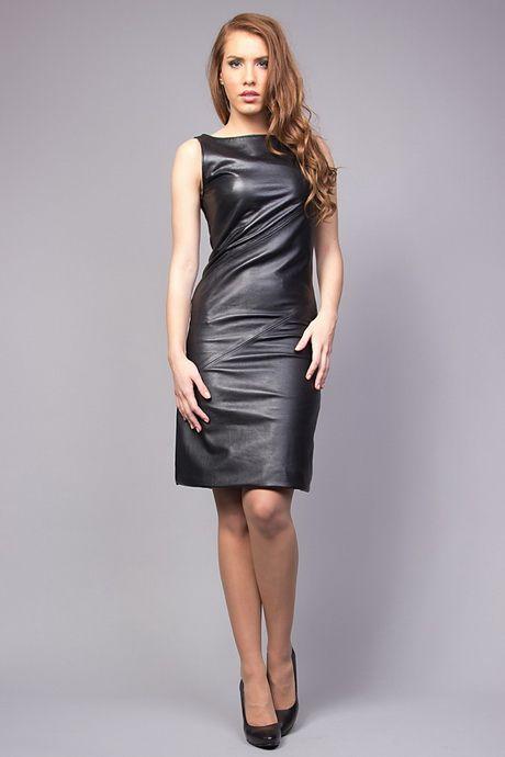 Robe cuir noire