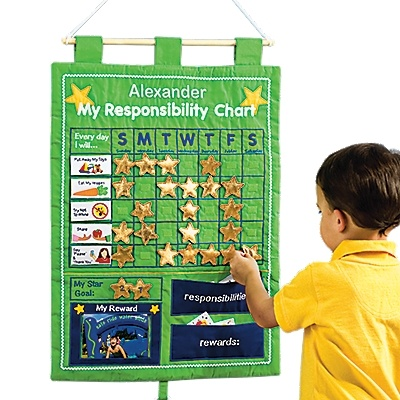 Designed by One Step Ahead!  It's fun to learn responsibility with our task-tracker wall hanging — 'cuz kids love adding stars as they work toward their reward!Response Rewards, Wall Hangings, Step Ahead, Kids Chore Charts, Charts Wall, Kids Stuff, Behavior Charts, Rewards Charts, Christmas Ideas