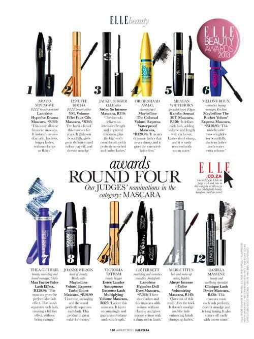 It is time for the ‪#‎ELLEBeautyAwards‬. And in the mascara category is my current fave 38°C Mascara by Kanebo Sensai which I have voted for of course & you can too  By voting you also stand a chance to win a beauty hamper from @Stuttafords