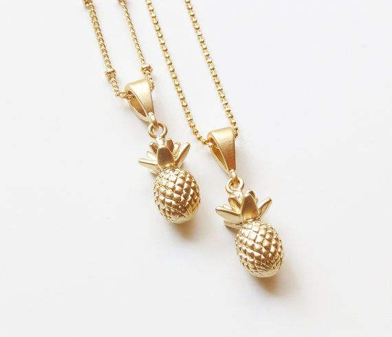 Collier d'ananas Collier or ananas par SweetheartJewelryBox