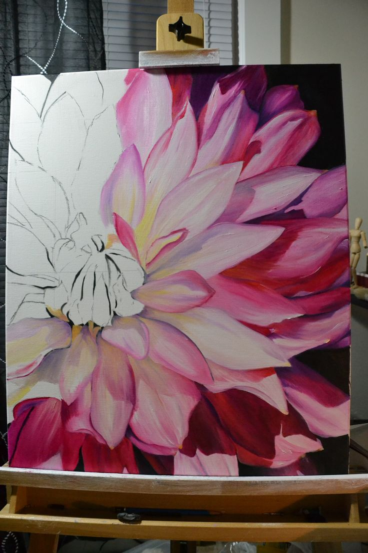 Paintings With Flowers Oil On