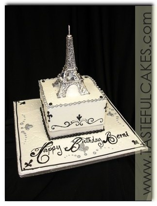 Google Image Result for http://www.tastefulcakes.com/images/cake-silver-white-black-birthday-paris-fun-sassy-elegant-simple-classic-50th-pattern-intricate-delicate-fleur-de-lis-eiffel-tower.jpg