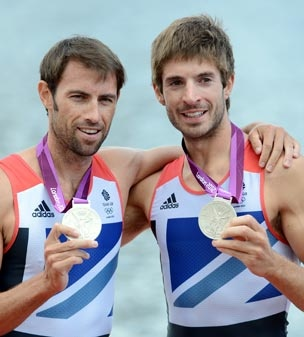 SILVER: Mark Hunter and Zac Purchase, Lightweight Men's Double Sculls