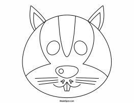 Printable Squirrel Mask to Color
