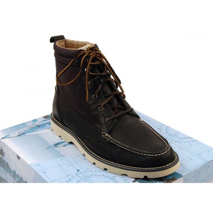 Sperry Topsider Shipyard Rigger Boot Black Black Canvas - Shoes from Attic Clothing UK