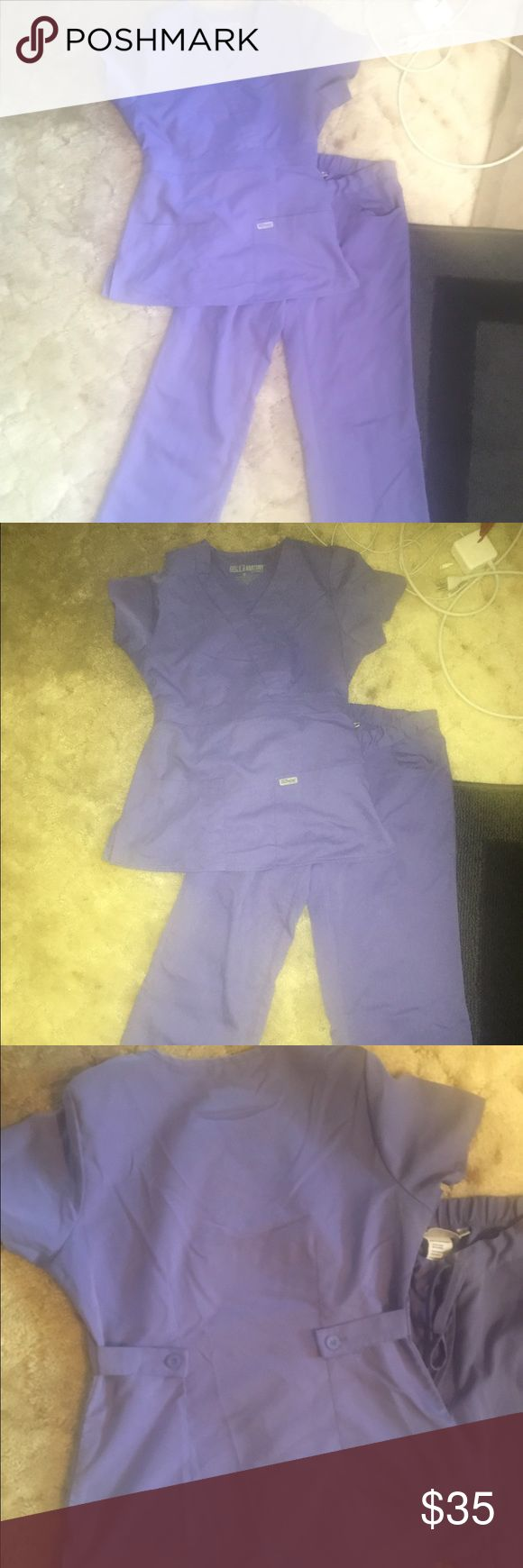 Grey's anatomy scrubs Set of small light purple Grey's anatomy scrubs. In great shape. Regular length. Other