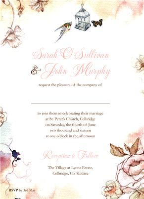 Painted Summer Invitation
