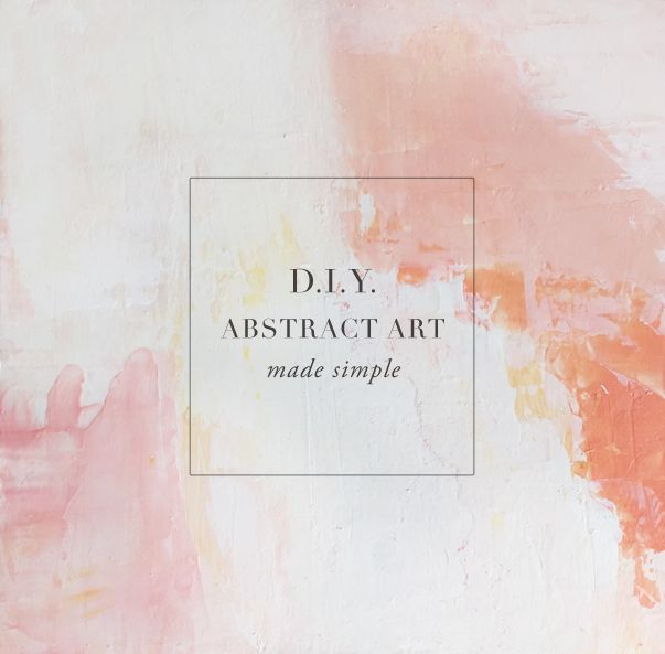 25 best ideas about easy abstract art on pinterest for Diy abstract acrylic painting