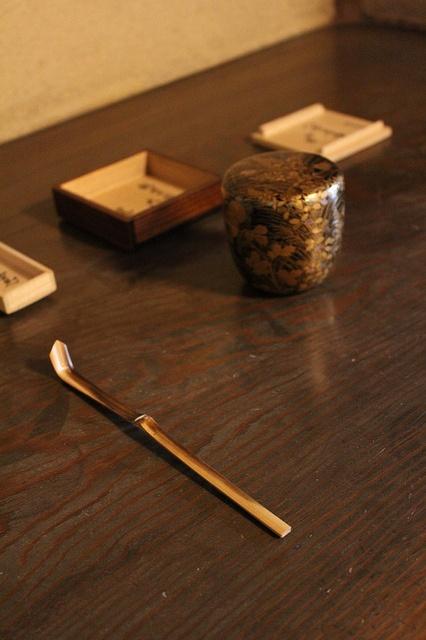 Japanese matcha tea caddy
