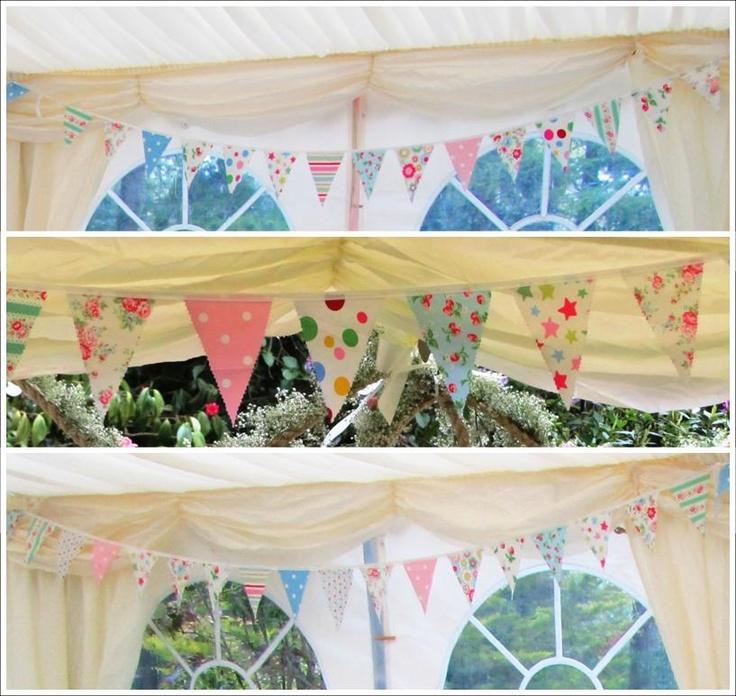 For Hire: Cath Kidston fabric Bunting. £1 per Metre. South of England. www.rosetintmywedding.co.uk #buntingforhire