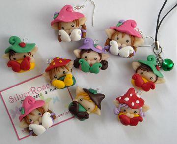Cute little elf characters