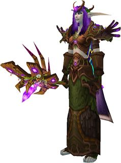 Night elf Restoration druid - my favorite is PvP (Alterac Valley & Warsong, faves) and someday I'd like to be part of an excellent arena team.  This image from: Couleur's World of Warcraft Transmogrify Database | Transmog Sets | WoW Xmog: Leather - awesome transmog ideas