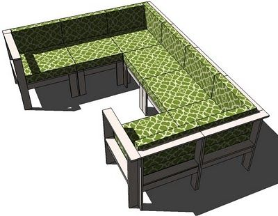 Ana White   Build a Simple Modern Outdoor Sectional Armless Section   Free and Easy DIY Project and Furniture Plans
