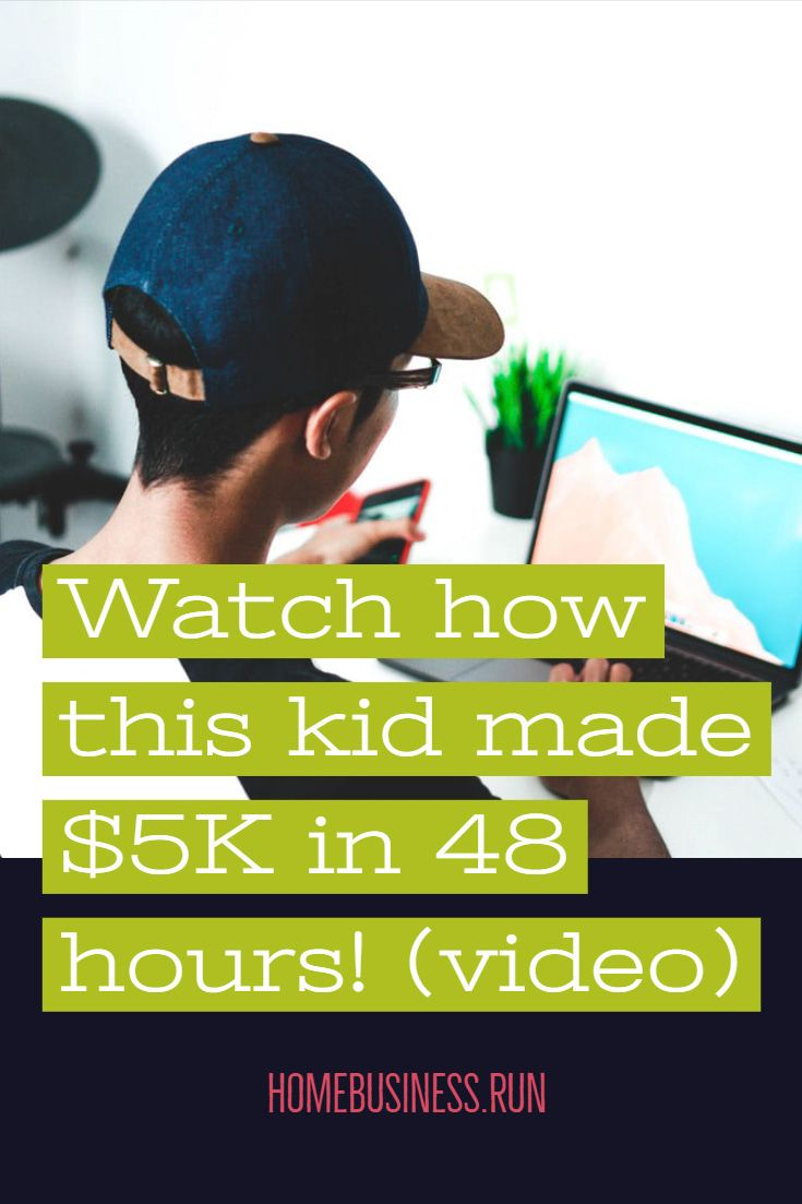 Watch how this kid made $5K in 48 hours! (video)