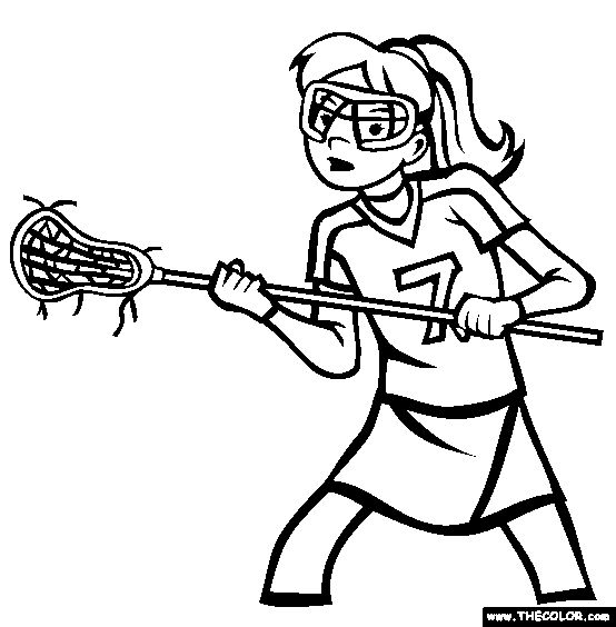 Lacrosse Coloring Page | Free Lacrosse Online Coloring