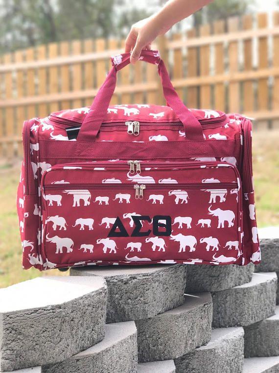 853617a51b Elephant DUFFLE Bag Gray Duffle Bag Women Duffle Bag Gray