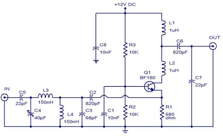 tv antenna booster circuit