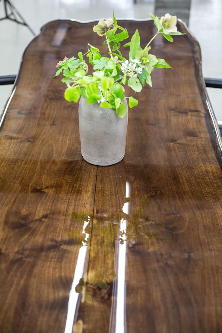 vanouds amsterdam table walnut wood and epoxy (AVAILABLE)