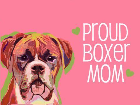 Dedicado a todas las madres de un Boxer  #perros #boxer #doglover