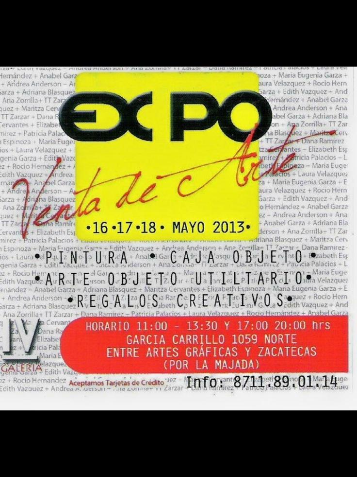 Para todos los interesados en el Arte, serán bienvenidos a nuestra Expoventa.