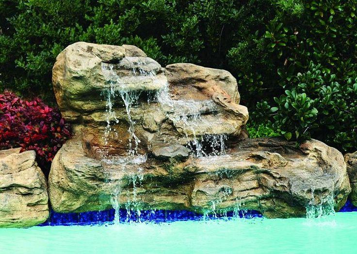 how to make swimming pool waterfall