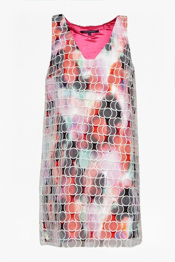 Miami Graffiti Organza Dress - Dresses - French Connection