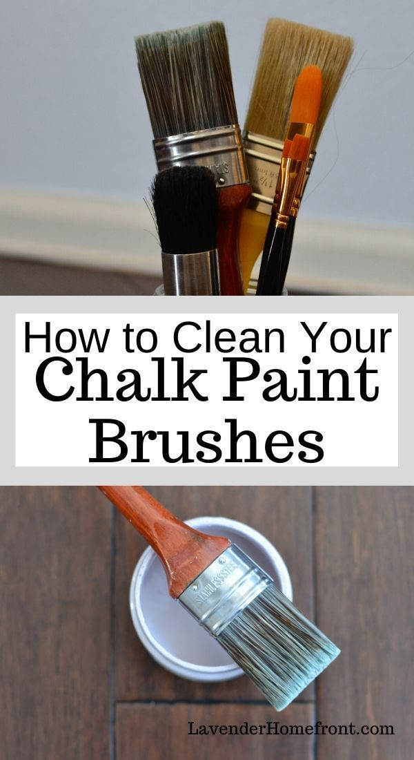 Caring For Your Chalk Painting Brushes In 2020 With Images Chalk Paint Brushes Chalk Paint Chalk