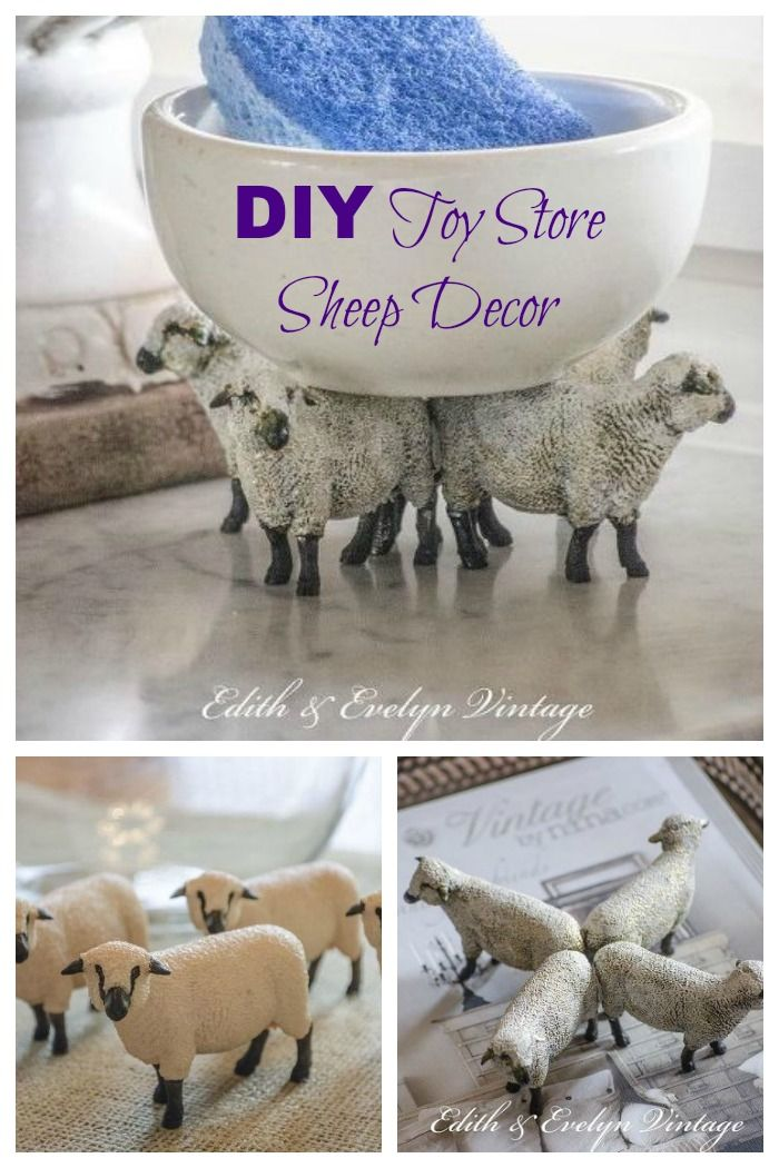 DIY your own sheep decor with items from the Toy Store ~ French Country Style